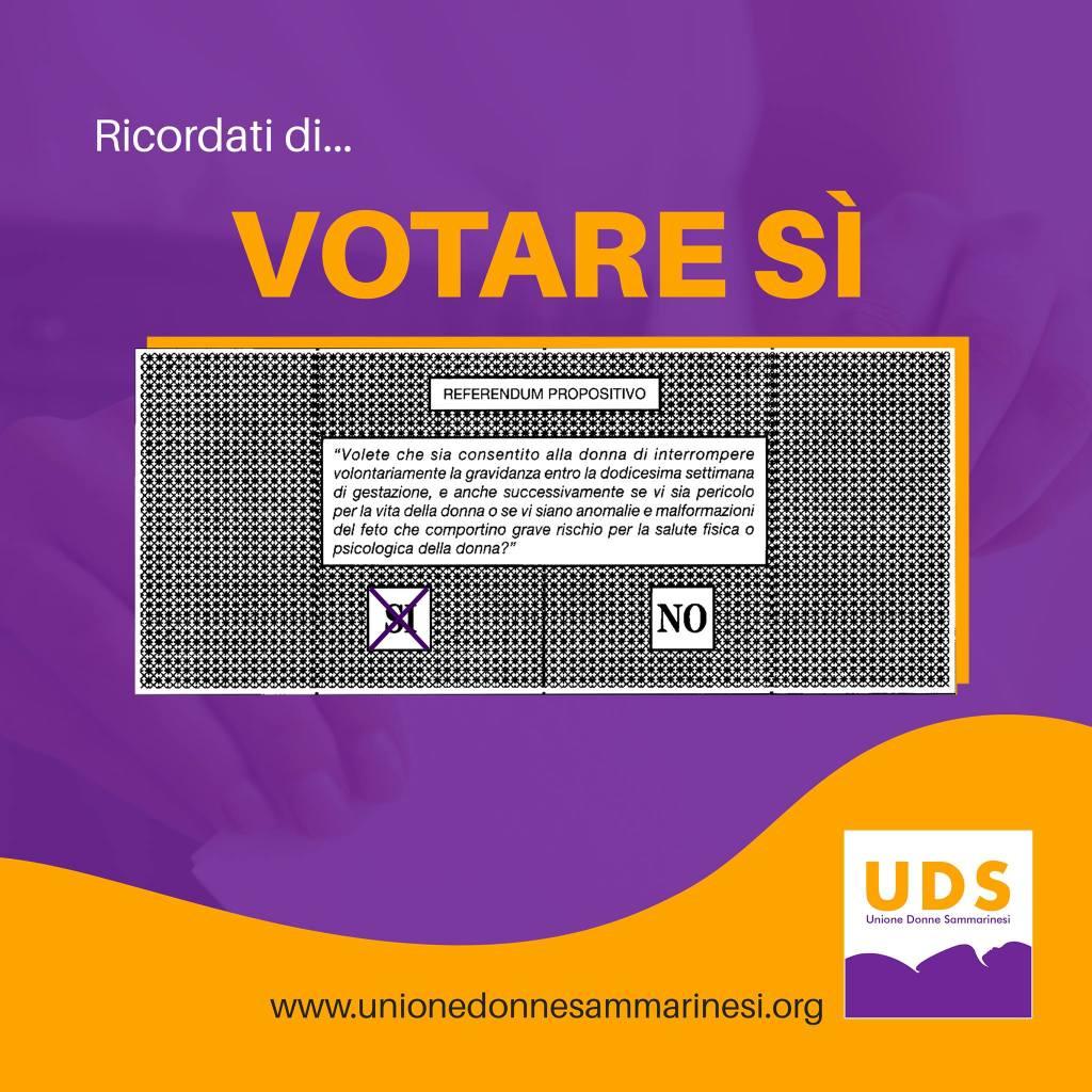Immagine della scheda del referendum con l'indicazione di votare sì.